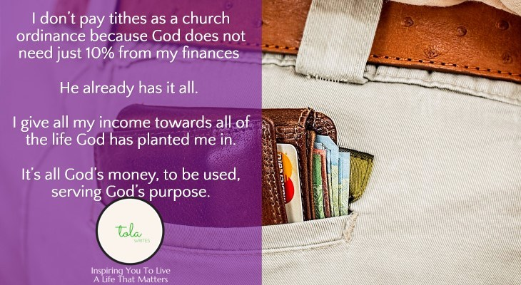 Why I Don't Pay Tithes